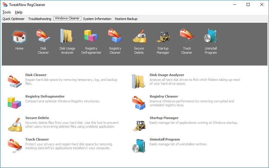 Программа RegCleaner